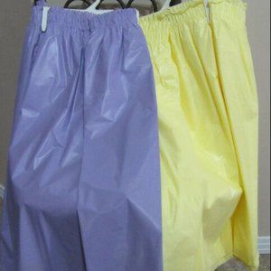 4- Quantity Yellow / & purple Plastic table skirts